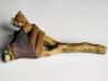 Riposo, 2009 legno, cuoio
