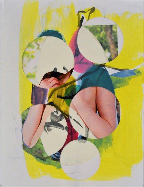 Biratoni - senza titolo 2015 - collage e tecnica mista su carta - cm 31,5x24 - con pass 46,5x 39
