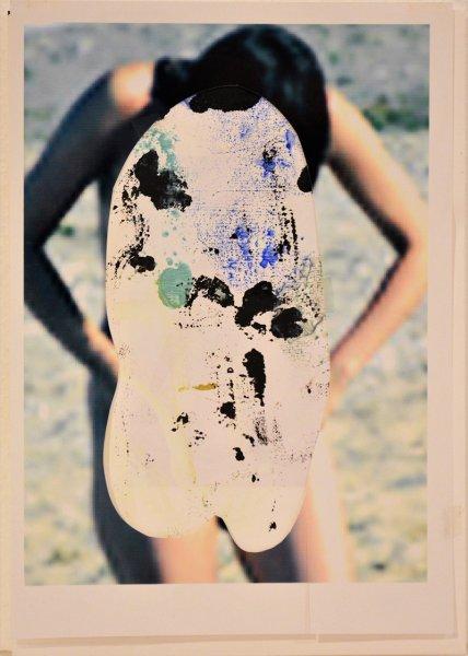 Biratoni - senza titolo 2016 - collage e tecnica mista su carta- cm 30x21 - con pass 45x36