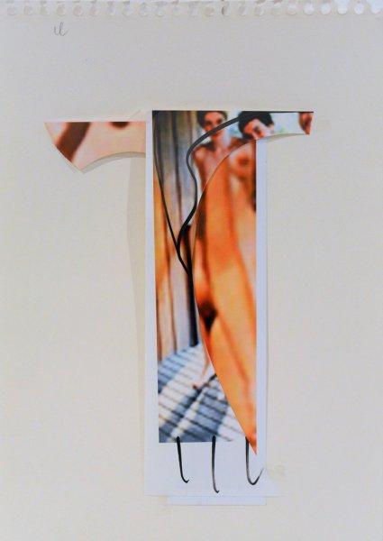Biratoni - senza titolo 2016 - collage e tecnica mista su carta - cm 42x29,5 - con pass 57x44,5