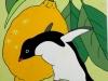 Luigi Mastrangelo - Natura morta con limone e pinguino