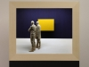 Peter Demetz - the yellow square -2015 - tiglio acrilico LED - 55x65