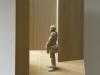 Peter Demetz - uomo con sciarpa - tiglio - 51x42x16 cm