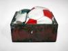 Palloni, 2007 cassetto in ferro, cuoio