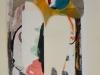 Biratoni - senza titolo 2016 - collage e tecnica mista su carta - cm 40x29,5 - con pass 55x44,5