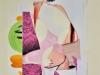 Biratoni - senza titolo 2017 - collage e tecnica mista su carta - cm 40,5x29,5 - con pass 55,5x44,5