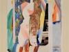 Biratoni - senza titolo 2017 - collage e tecnica mista su carta - cm 40x29,5 - con pass 55x44,5