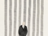 Marco Neri - Passante incrociato - Forestiero 2011 - acquerello e collage su carta cm 42x29 - 2