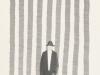 Marco Neri - Passante incrociato - Forestiero 2011 - acquerello e collage su carta cm 42x29