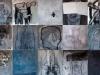 Lampedusa, 2009 tempera su carta, 15 pezzi di cm. 40x40