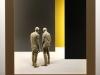 Peter Demetz  - due amici 2014 - tiglio, acrilico e LED - cm 115x110x29 Courtesy Art Forum contemporary