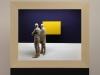 Peter Demetz - the yellow square -2015 - tiglio acrilico LED - 55x65